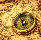 Compass_on_ancient_map